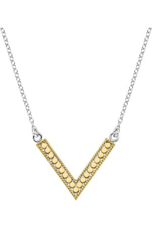 Anna Beck Reversible V Necklace and Silver