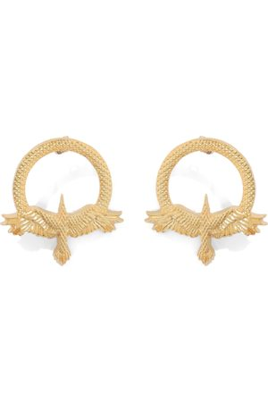 Natia X Lako Round Bird Earrings