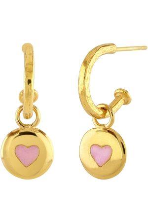 Sophie Harley Pink Button Hoop Earrings