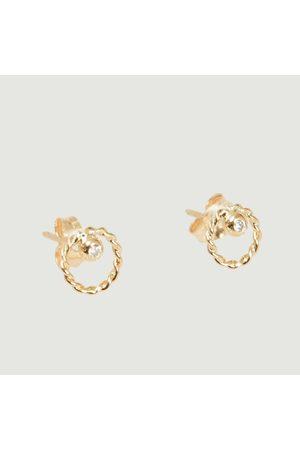 Monsieur Alya and diamond stud earrings Or jaune