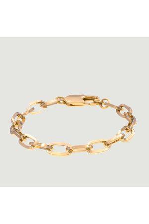 Luj Paris Mina plated brass curb bracelet Plaqué or