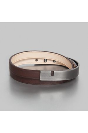 URSUL Men Bracelets - U-Turn Twice Bracelet Chocolat