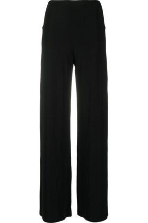 Norma Kamali Mid-rise wide-leg trousers