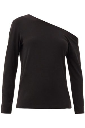 Norma Kamali Off-the-shoulder Jersey Long-sleeved Top - Womens