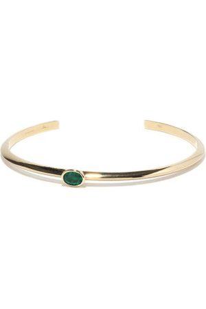 Lizzie Mandler Knife Edge Emerald & 18kt Bracelet - Womens