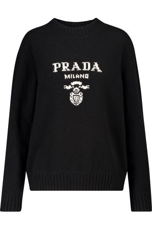 Prada Logo wool and cashmere sweater