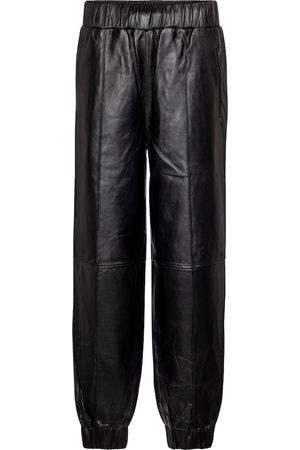 Ganni Leather trackpants