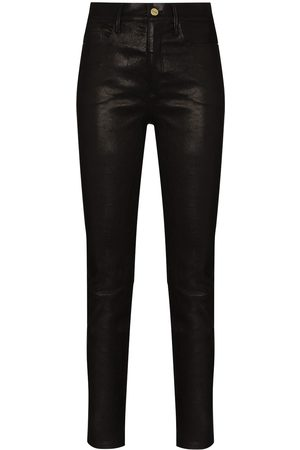 Frame Women Leather Trousers - Le Sylvie skinny leather trousers
