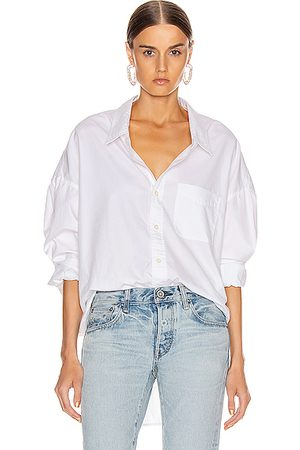R13 Drop Neck Oxford Shirt in