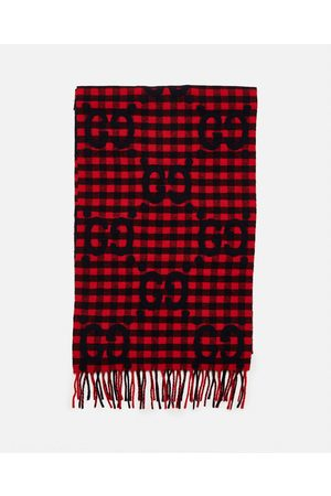 Gucci Men Scarves - GG jacquard wool scarf size One Size