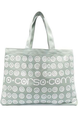10 CORSO COMO Logo polka-dot print tote bag