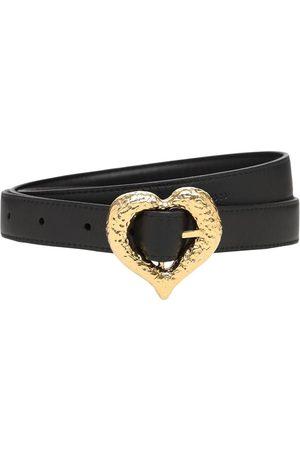 Saint Laurent 2cm Heart Slim Leather Belt