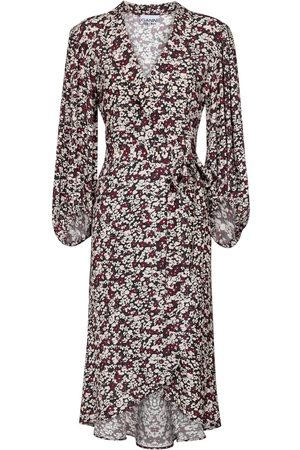 Ganni Floral crêpe wrap dress