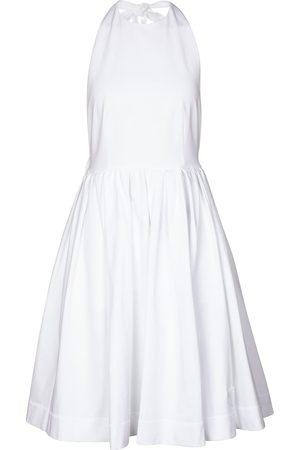 Prada Halter-neck cotton minidress