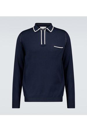 Maison Margiela Long-sleeved cotton polo shirt