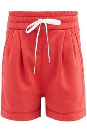 Miu Miu Logo-print Drawstring Cotton-jersey Shorts - Womens
