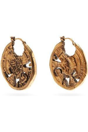 Acne Studios Coin Antiqued-brass Earrings - Womens