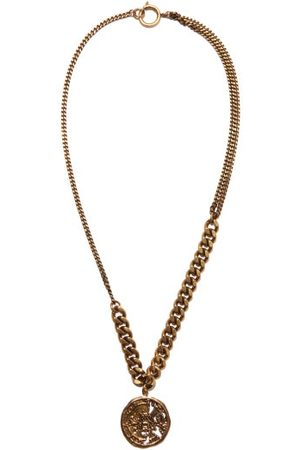 Acne Studios Coin-charm Brass Necklace - Womens