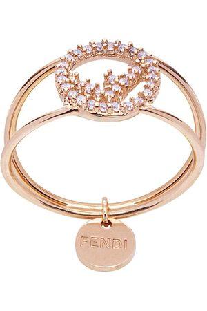 Fendi Crystal detail pendant ring