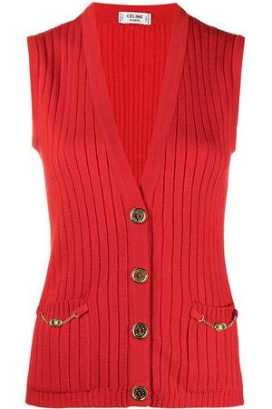 Céline Women Singlets - 1980s ribbed knit vest