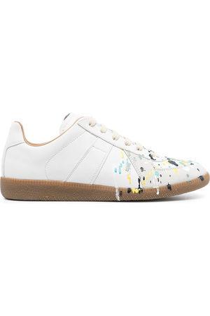 Maison Margiela Paint-splatter low-top sneakers