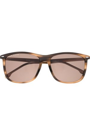 HUGO BOSS Tortoiseshell-effect square-frame sunglasses