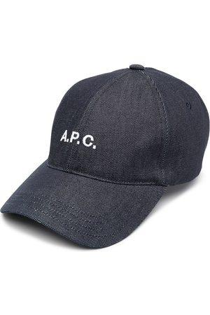 A.P.C. Logo-print denim cap