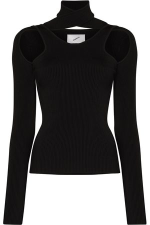 COPERNI Ribbed cut-out high neck top