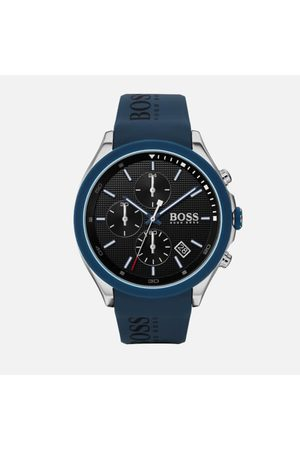 HUGO BOSS Men's Velocity Leather Strap Watch - Rouge Black