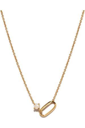 Lizzie Mandler October Birthstone Opal & 18kt Necklace - Womens