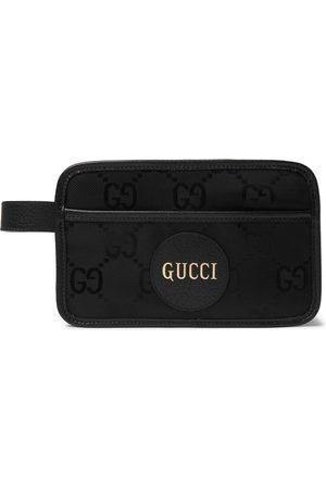 Gucci Leather-Trimmed Monogrammed ECONYL Wash Bag