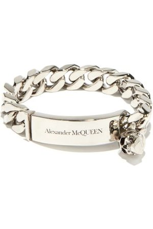 Alexander McQueen Skull-charm Curb-chain Bracelet - Mens