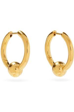 ALL BLUES Women Earrings - Beaded -vermeil Hoop Earrings - Womens
