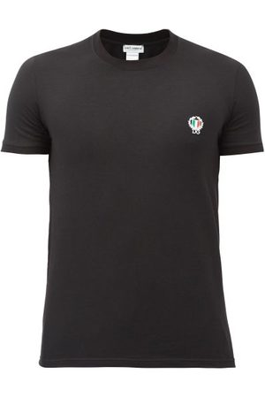 Dolce & Gabbana Logo-embroidered Stretch-cotton T-shirt - Mens