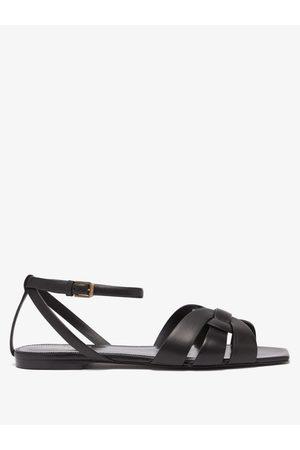 Saint Laurent Tribute Leather Sandals - Womens