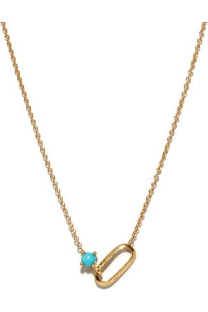 Lizzie Mandler Women Necklaces - December Birthstone Turquoise & 18kt Necklace - Womens