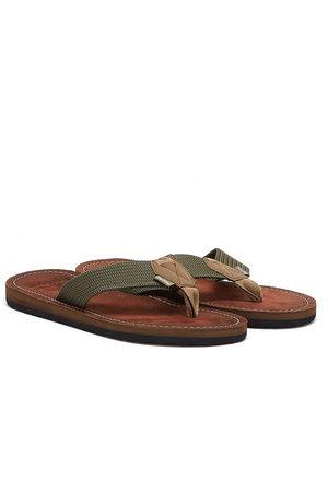 Barbour Toeman Mens Olive Flip Flops