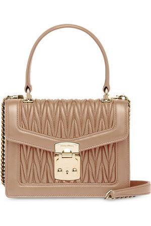 Miu Miu Miu Confidential nappa leather handbag - Neutrals