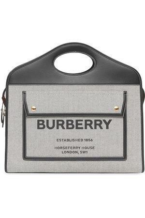 Burberry Medium canvas Leather Pocket bag