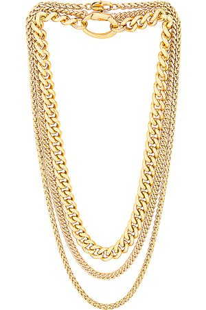 Laura Lombardi For FWRD Presa, Curb, and Wheat Chain Necklace Set in