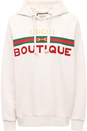 Gucci Women Hoodies - Boutique Print Cotton Jersey Hoodie