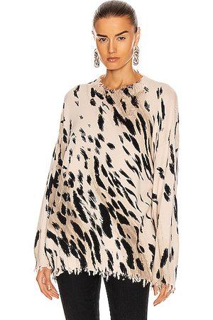R13 Cheetah Oversized Sweater in Cheetah