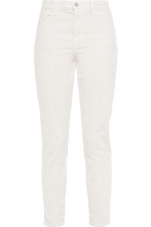 J Brand Woman Cotton-blend Corduroy Tapered Pants Ecru Size 26