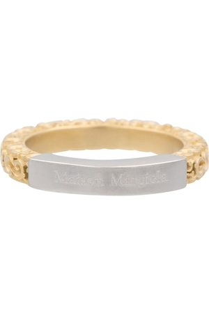 Maison Margiela Gold-plated engraved ring