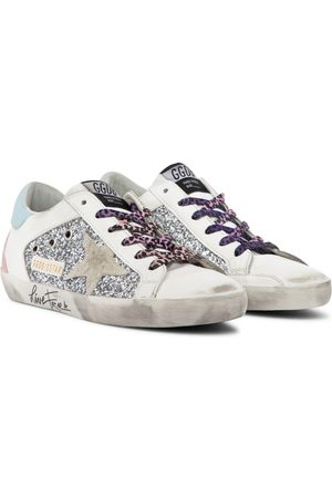 Golden Goose Superstar glitter leather sneakers