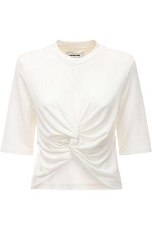 AMBUSH Knotted Cropped Jersey T-shirt