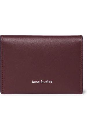 Acne Studios Men Purses & Wallets - Logo-Print Leather Billfold Wallet