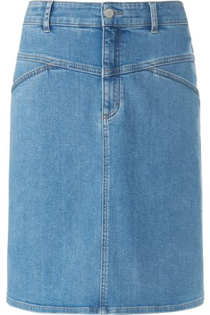 DAY.LIKE Denim A-line skirt elasticated waistband denim size: 10s