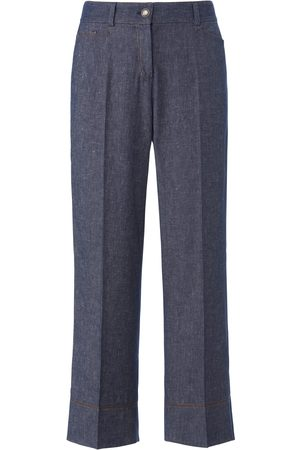 Schneiders Ankle-length trousers wide leg denim size: 10