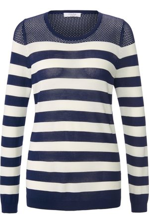 mayfair by Peter Hahn Striped round neck jumper size: 10